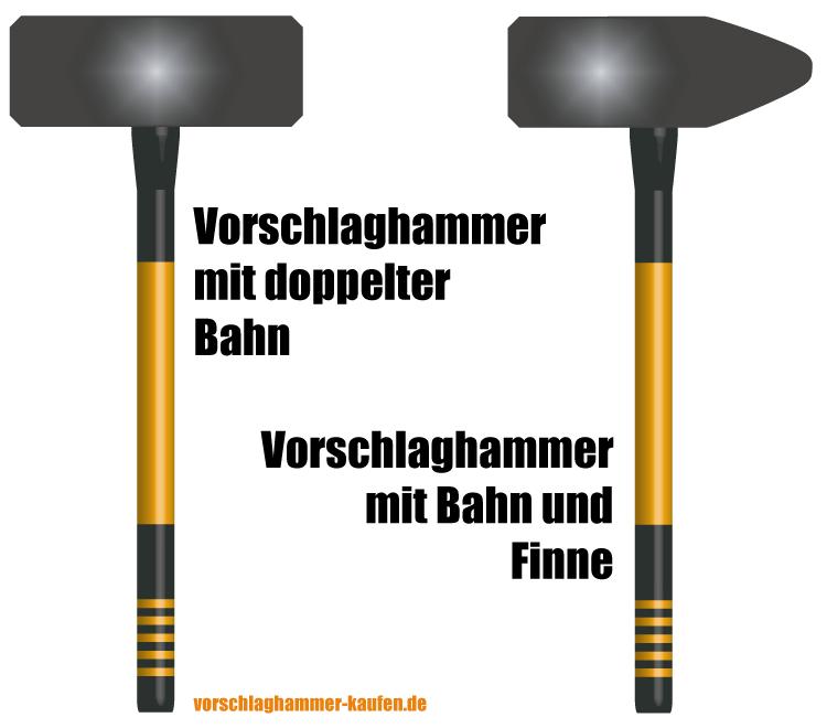 Vorschlaghammer mit Bahn und Finne