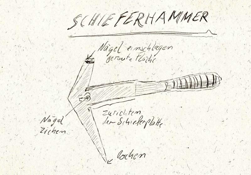 Schieferhammer Funktion und Bestandteile